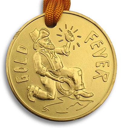Gold Fever Medal & Neck Tie (Pack of 20)